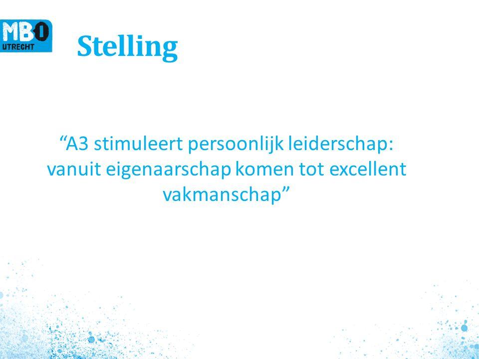 Stelling A3 stimuleert persoonlijk leiderschap: vanuit eigenaarschap komen tot excellent vakmanschap 6