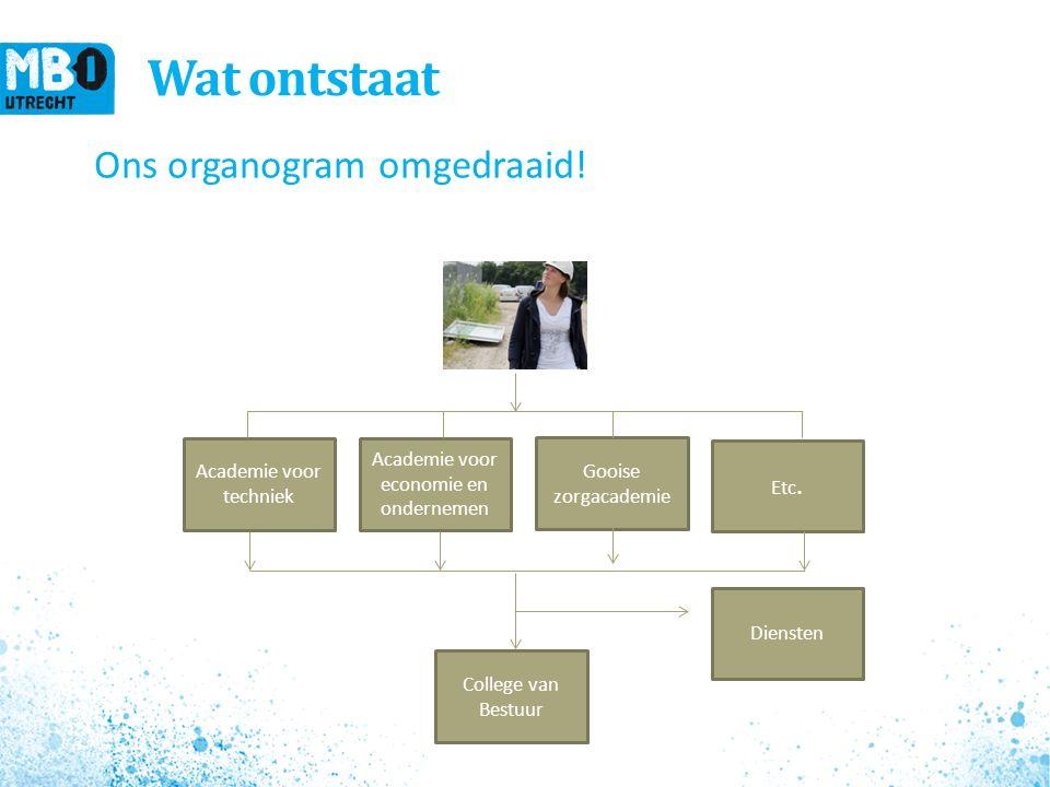 Wat ontstaat Ons organogram omgedraaid.