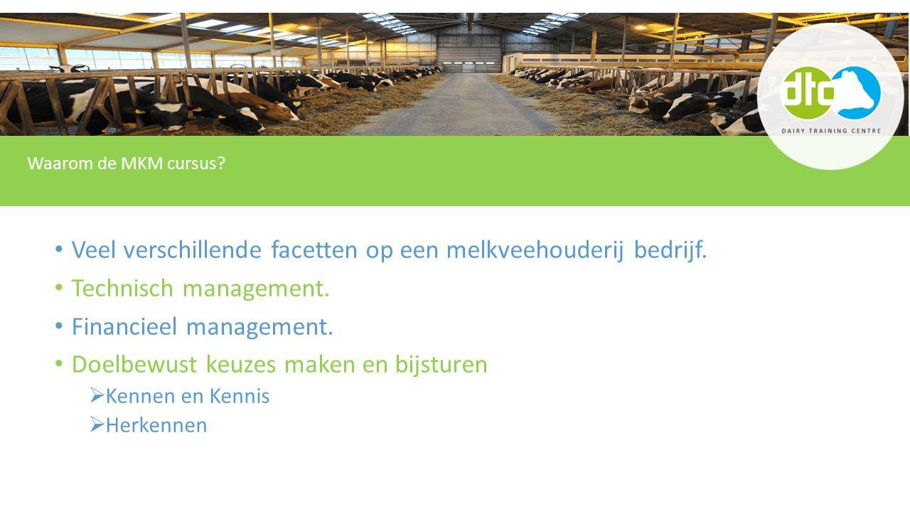 Veel verschillende facetten op een melkveehouderij bedrijf.
