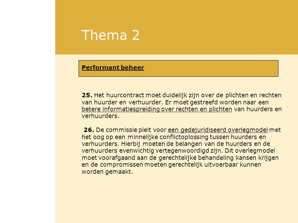 Thema 2 Performant beheer 25.