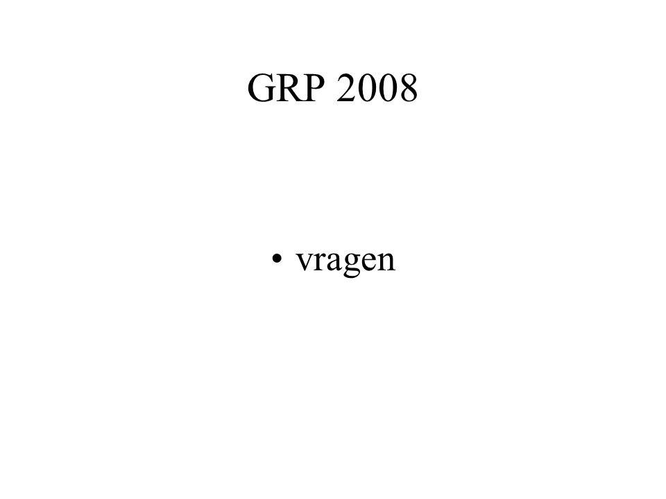 GRP 2008 vragen