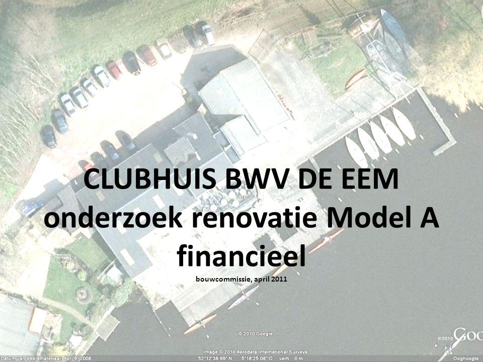 CLUBHUIS BWV DE EEM onderzoek renovatie Model A financieel bouwcommissie, april 2011