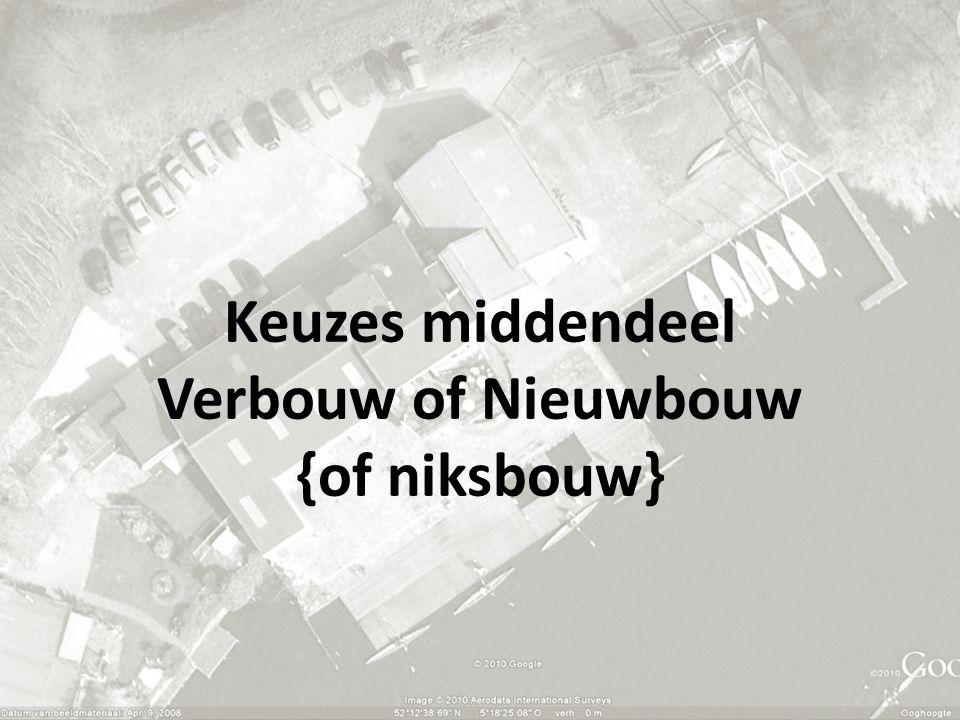Keuzes middendeel Verbouw of Nieuwbouw {of niksbouw}