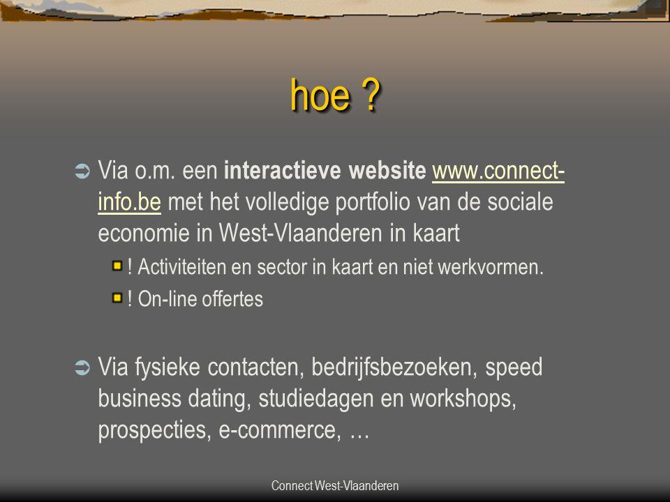 Connect West-Vlaanderen hoe . Via o.m.