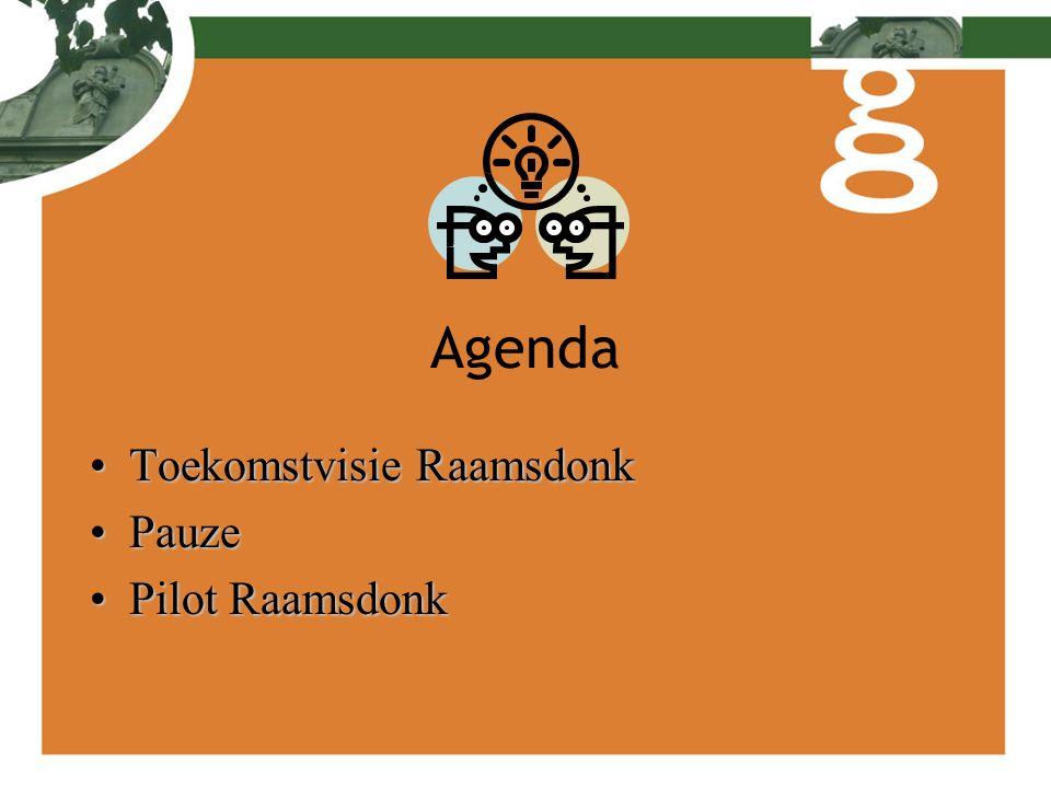 Agenda Toekomstvisie RaamsdonkToekomstvisie Raamsdonk PauzePauze Pilot RaamsdonkPilot Raamsdonk