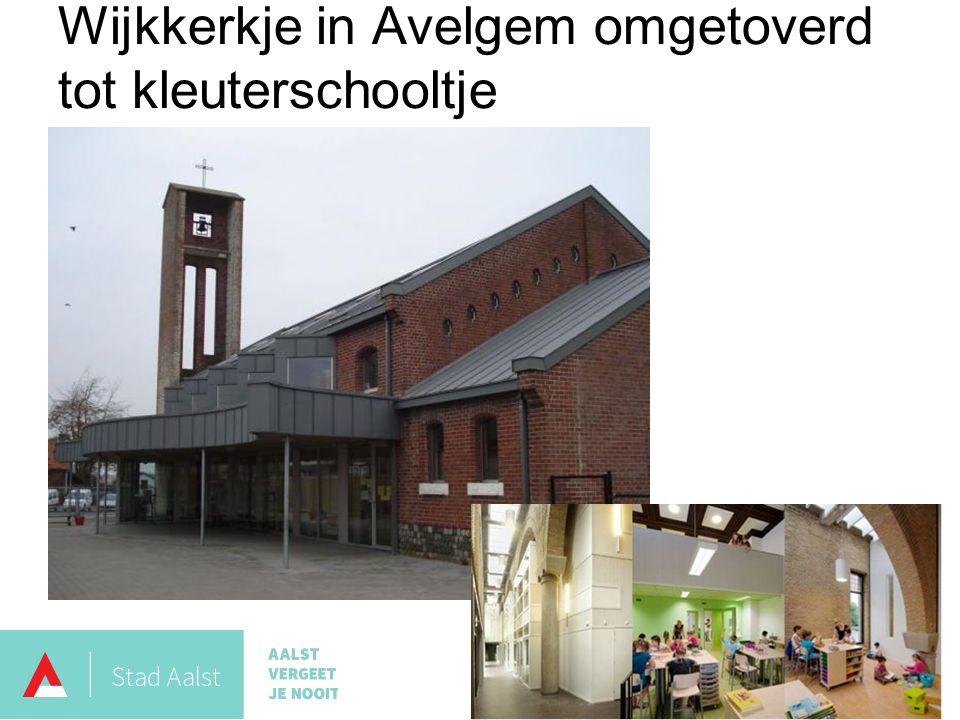 Wijkkerkje in Avelgem omgetoverd tot kleuterschooltje