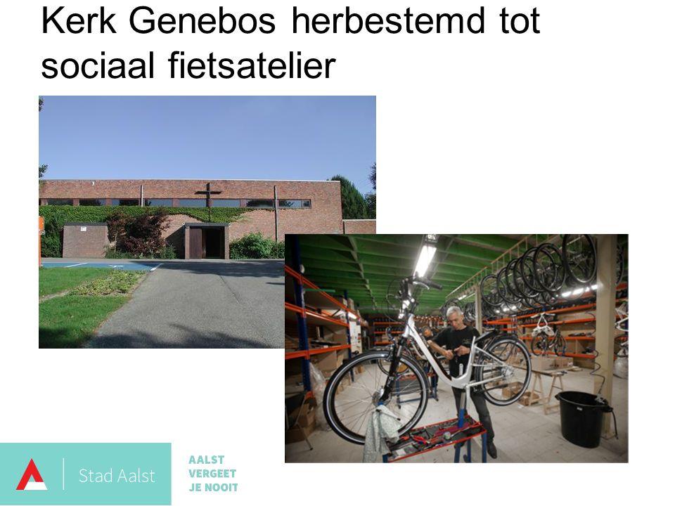 Kerk Genebos herbestemd tot sociaal fietsatelier