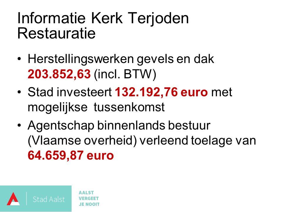 Herstellingswerken gevels en dak 203.852,63 (incl.