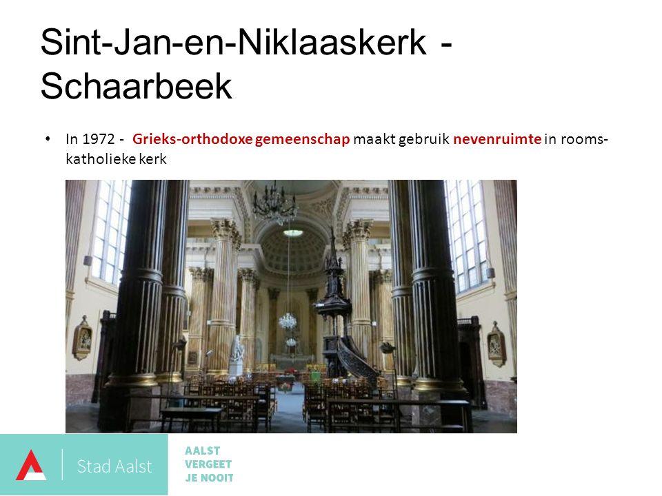 Sint-Jan-en-Niklaaskerk - Schaarbeek In 1972 - Grieks-orthodoxe gemeenschap maakt gebruik nevenruimte in rooms- katholieke kerk