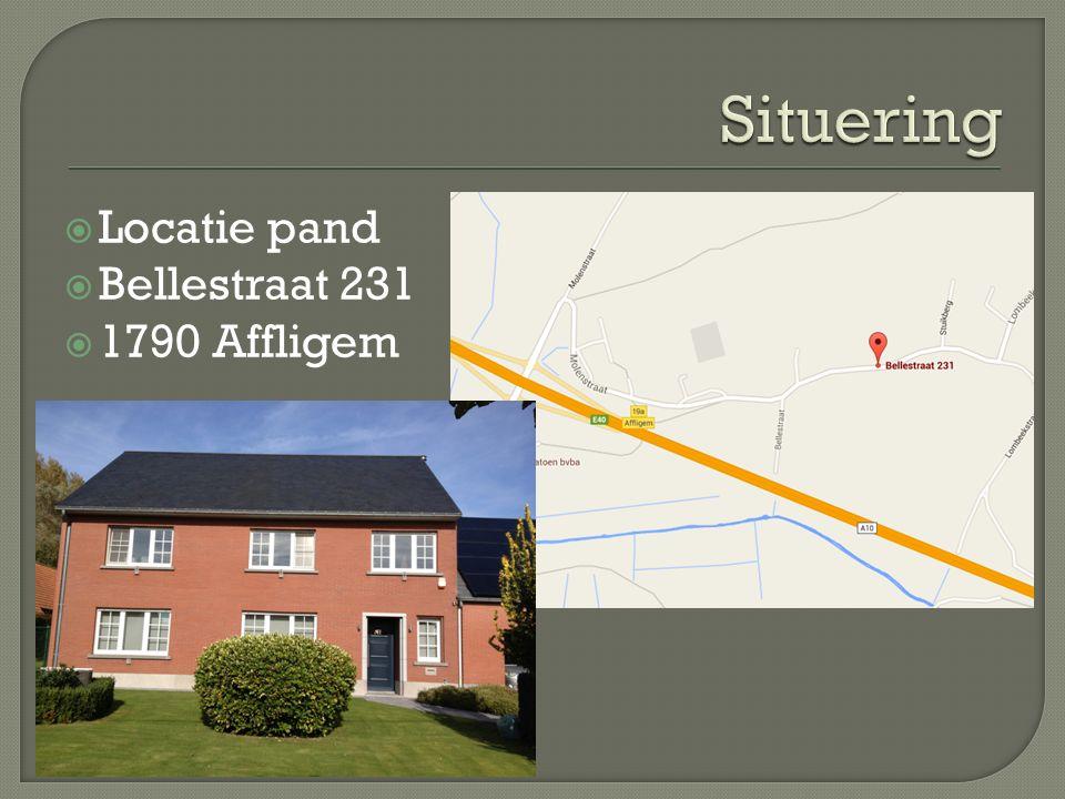  Locatie pand  Bellestraat 231  1790 Affligem