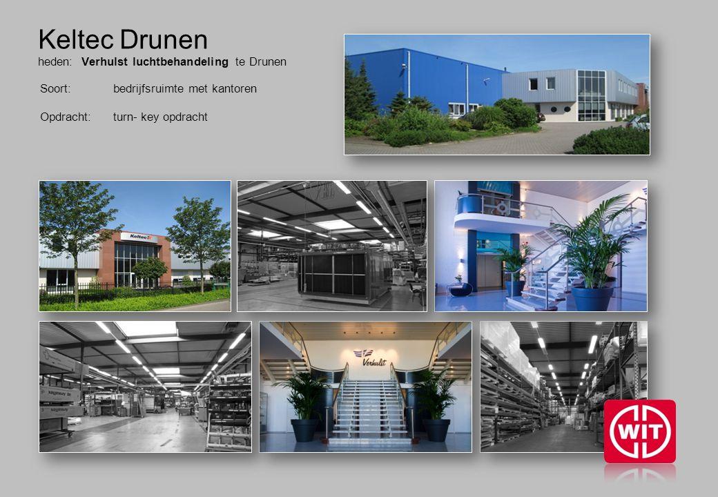 Keltec Drunen heden: Verhulst luchtbehandeling te Drunen Soort: bedrijfsruimte met kantoren Opdracht: turn- key opdracht