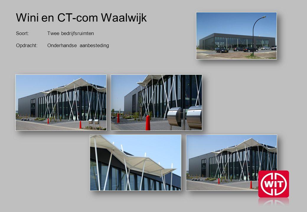 Wini en CT-com Waalwijk Soort: Twee bedrijfsruimten Opdracht: Onderhandse aanbesteding