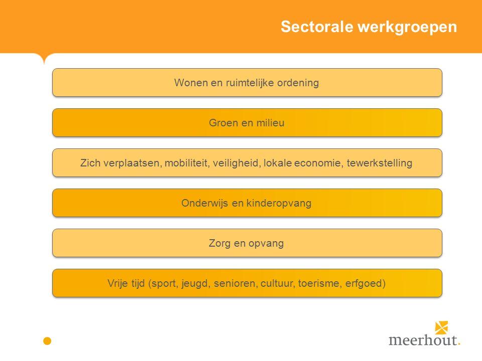 Actieplannen en acties vrije tijd – prioritair beleid Actieplan 6: De gemeente Meerhout neemt initiatieven om de vereenzaming van senioren tegen te gaan (opgesplitst in 2 deelacties).