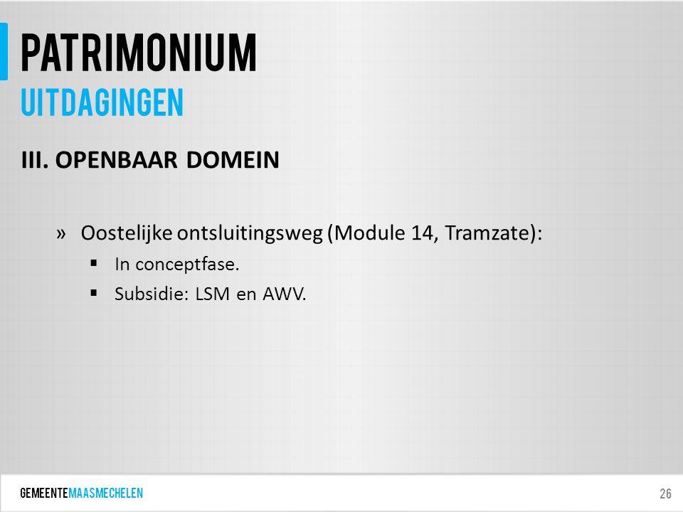 GEMEENTEmaasmechelen patrimonium III.