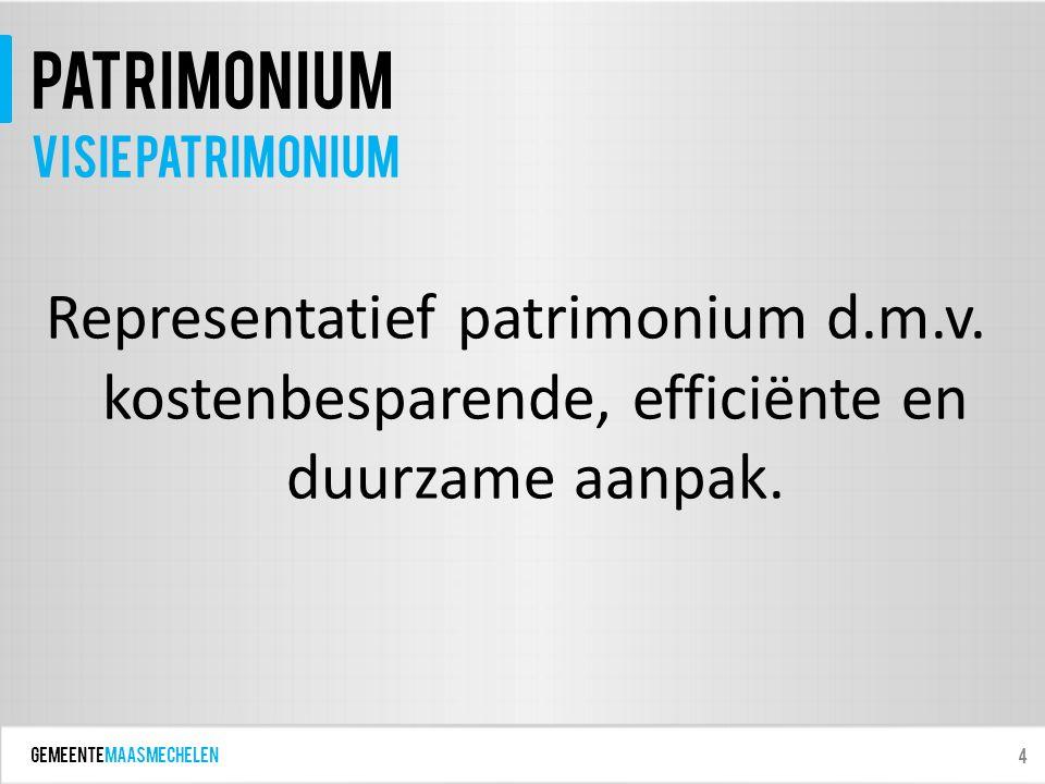 GEMEENTEmaasmechelen patrimonium Representatief patrimonium d.m.v.