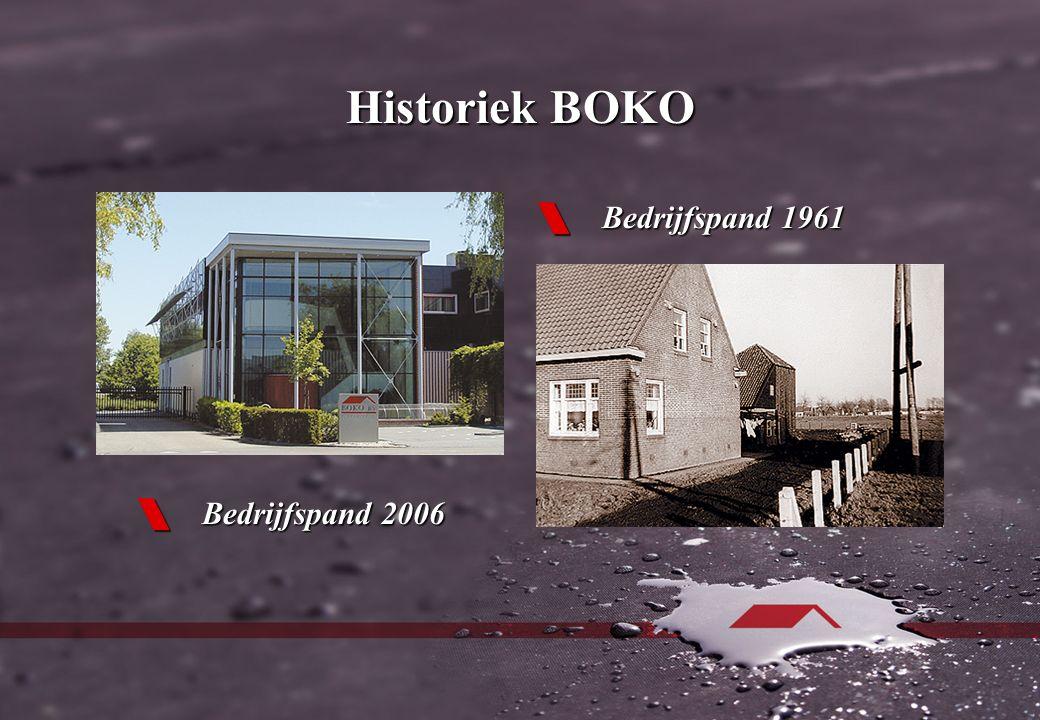 Historiek BOKO  Bedrijfspand 1961  Bedrijfspand 2006