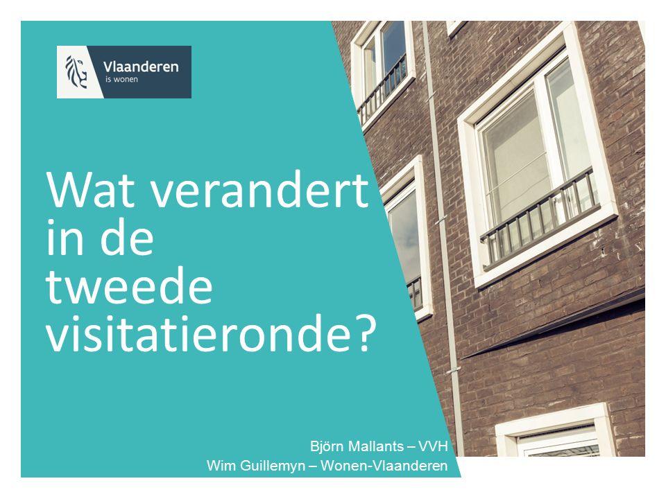 Wat verandert in de tweede visitatieronde? Björn Mallants – VVH Wim Guillemyn – Wonen-Vlaanderen