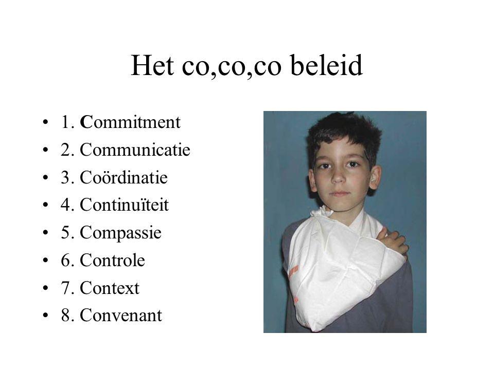 Het co,co,co beleid 1. Commitment 2. Communicatie 3.