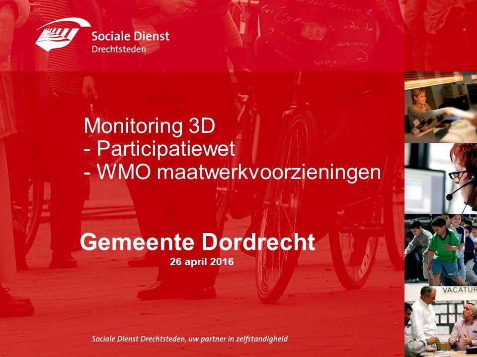 Monitoring 3D - Participatiewet - WMO maatwerkvoorzieningen Gemeente Dordrecht 26 april 2016