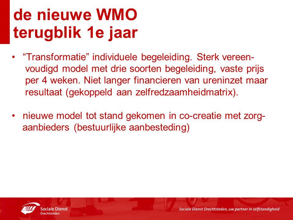 de nieuwe WMO terugblik 1e jaar Transformatie individuele begeleiding.
