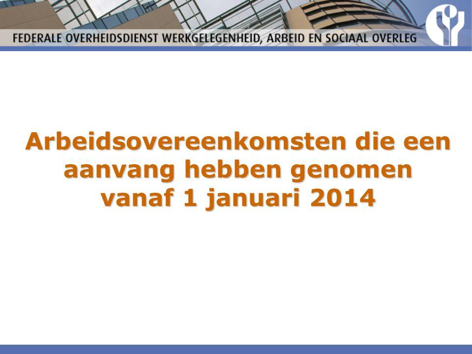 Arbeidsovereenkomsten die een aanvang hebben genomen vanaf 1 januari 2014
