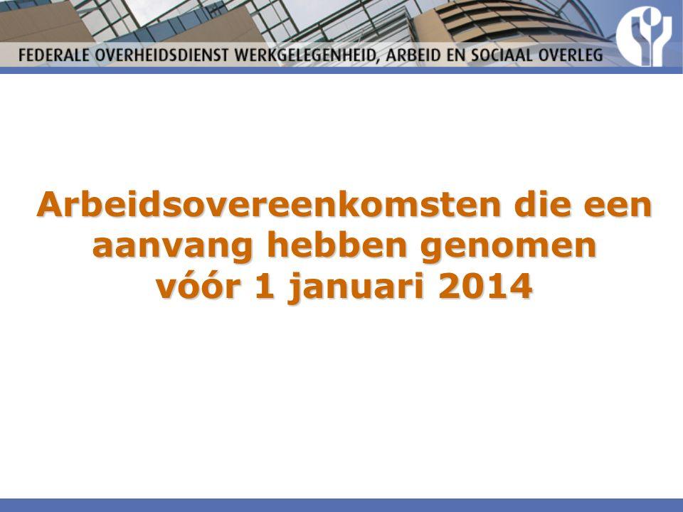 Arbeidsovereenkomsten die een aanvang hebben genomen vóór 1 januari 2014