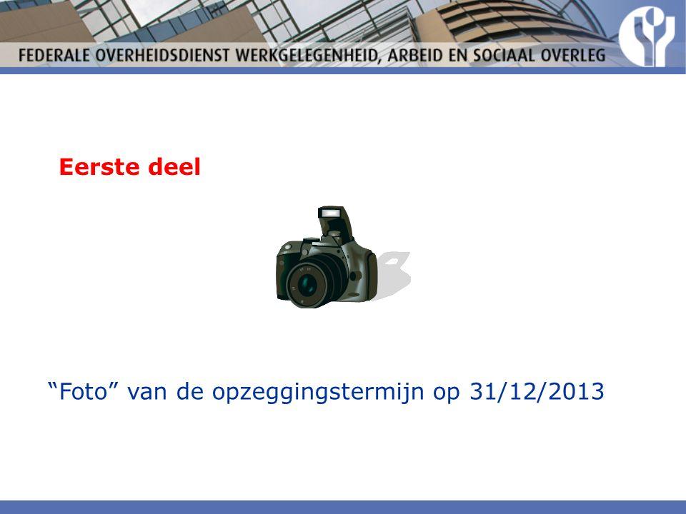 Eerste deel Foto van de opzeggingstermijn op 31/12/2013
