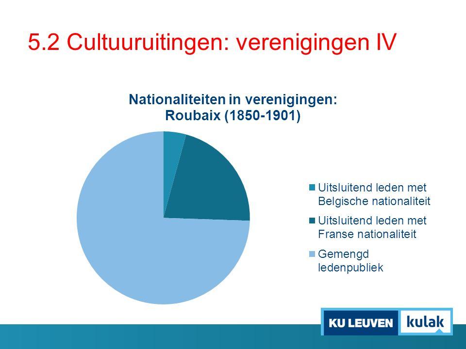 5.2 Cultuuruitingen: verenigingen IV