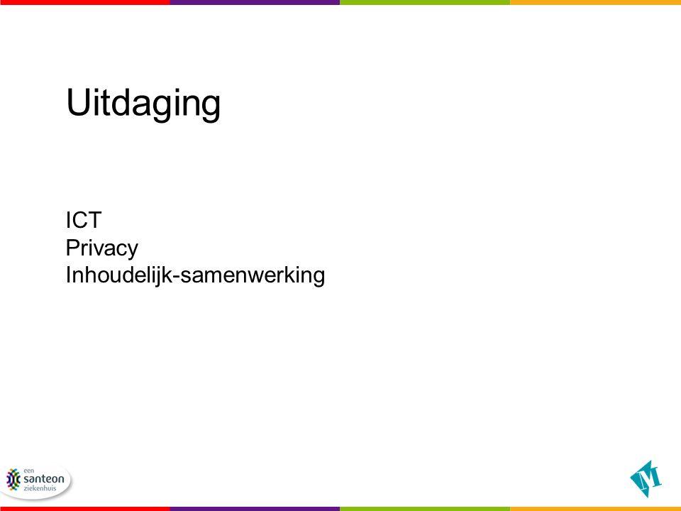 Pilot start : ICT Commissie kring Groningen, daarna klankbordgroep Toestemmingsprocedure loopt Inschrijfbalie, spoedopvang en alle poli's Na de zomer functionerend.