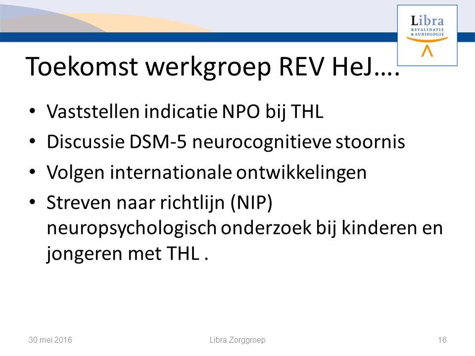 Toekomst werkgroep REV HeJ….
