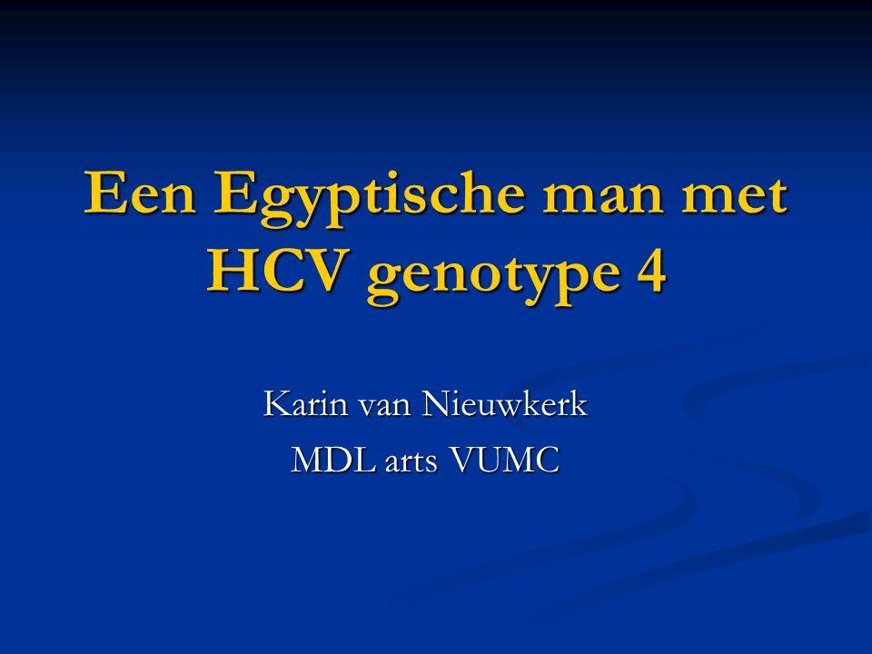 Een Egyptische man met HCV genotype 4 Karin van Nieuwkerk MDL arts VUMC
