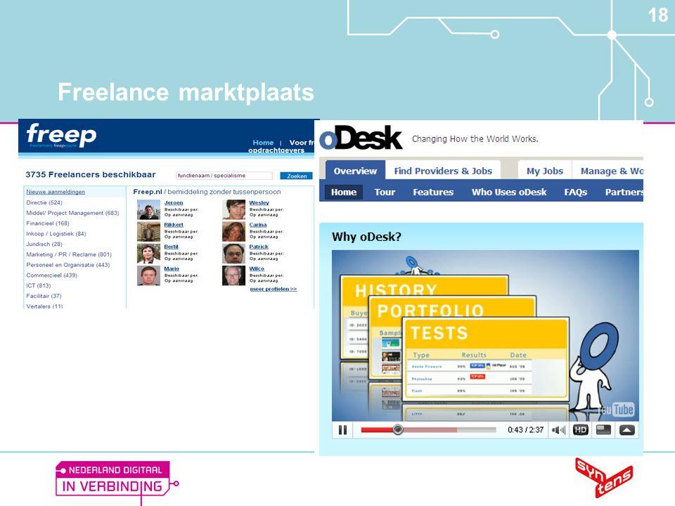 18 Freelance marktplaats
