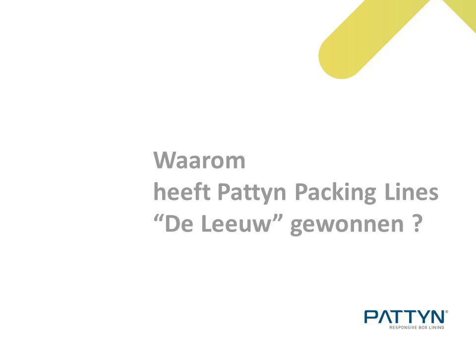 """Waarom heeft Pattyn Packing Lines """"De Leeuw"""" gewonnen ?"""