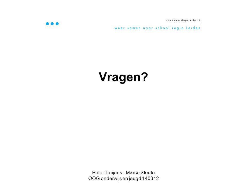 Peter Truijens - Marco Stoute OOG onderwijs en jeugd 140312 Vragen