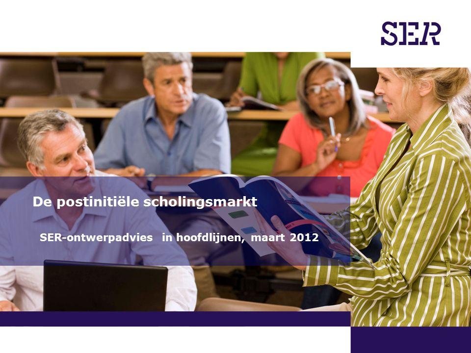 00-00-2009 | pagina 1/x | Afdeling Communicatie De postinitiële scholingsmarkt SER-ontwerpadvies in hoofdlijnen, maart 2012