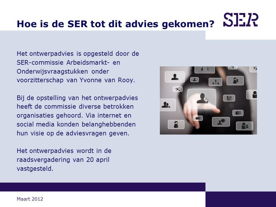 Maart 2012 Hoe is de SER tot dit advies gekomen.