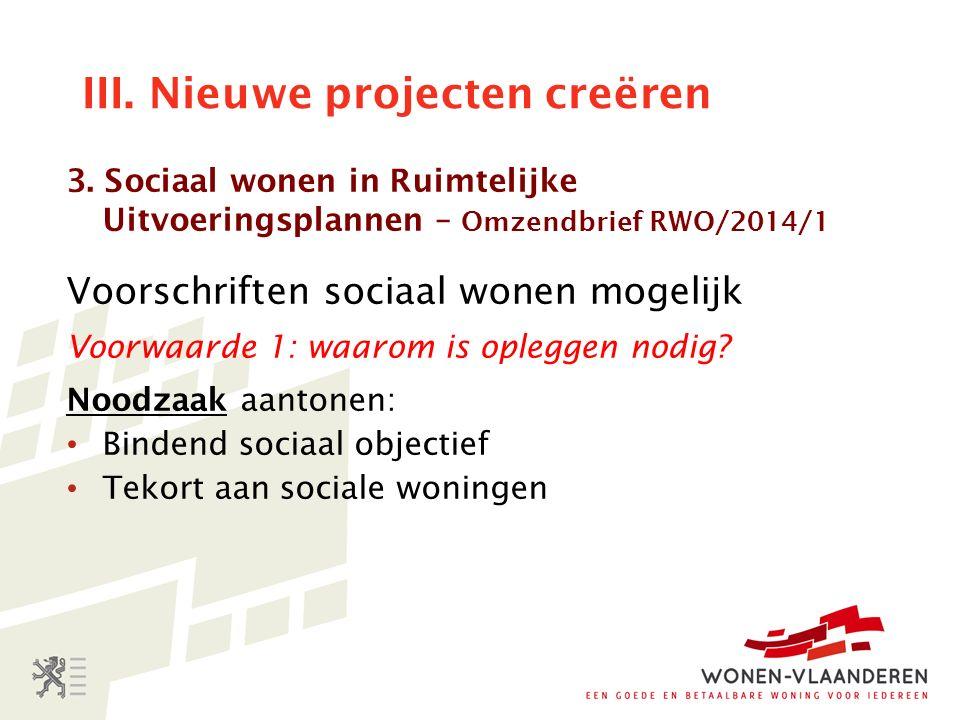 III. Nieuwe projecten creëren 3.