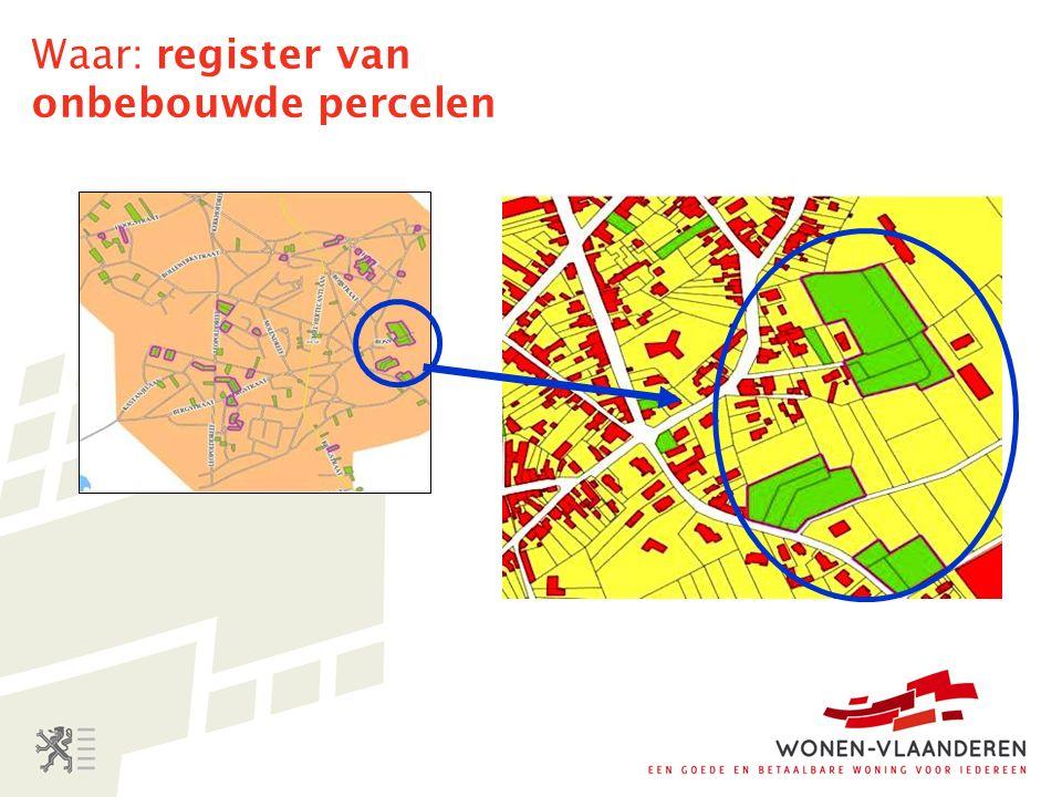 Waar: register van onbebouwde percelen