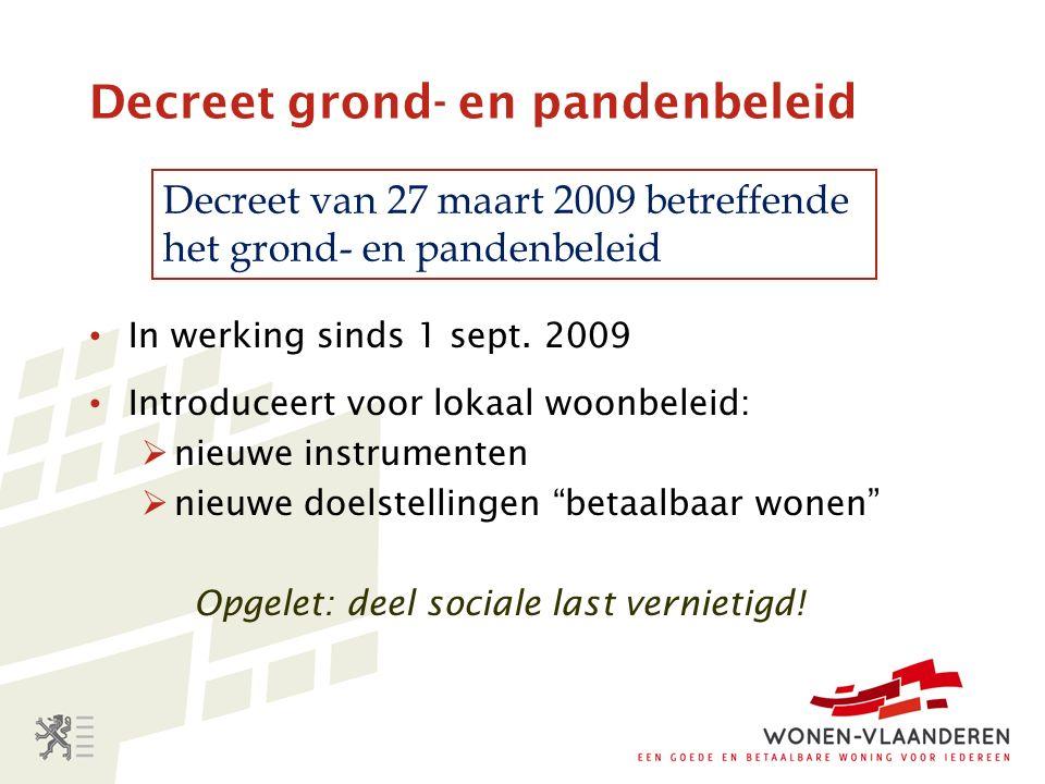 Decreet grond- en pandenbeleid In werking sinds 1 sept.