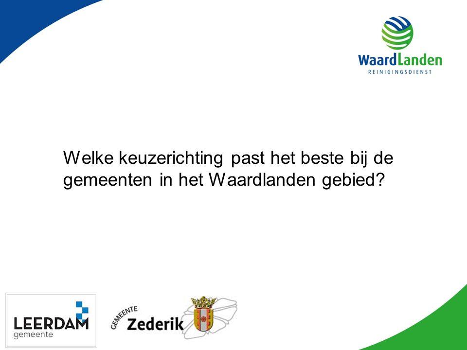 Welke keuzerichting past het beste bij de gemeenten in het Waardlanden gebied?