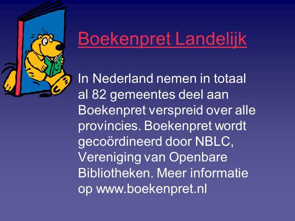 Boekenpret Landelijk In Nederland nemen in totaal al 82 gemeentes deel aan Boekenpret verspreid over alle provincies. Boekenpret wordt gecoördineerd d