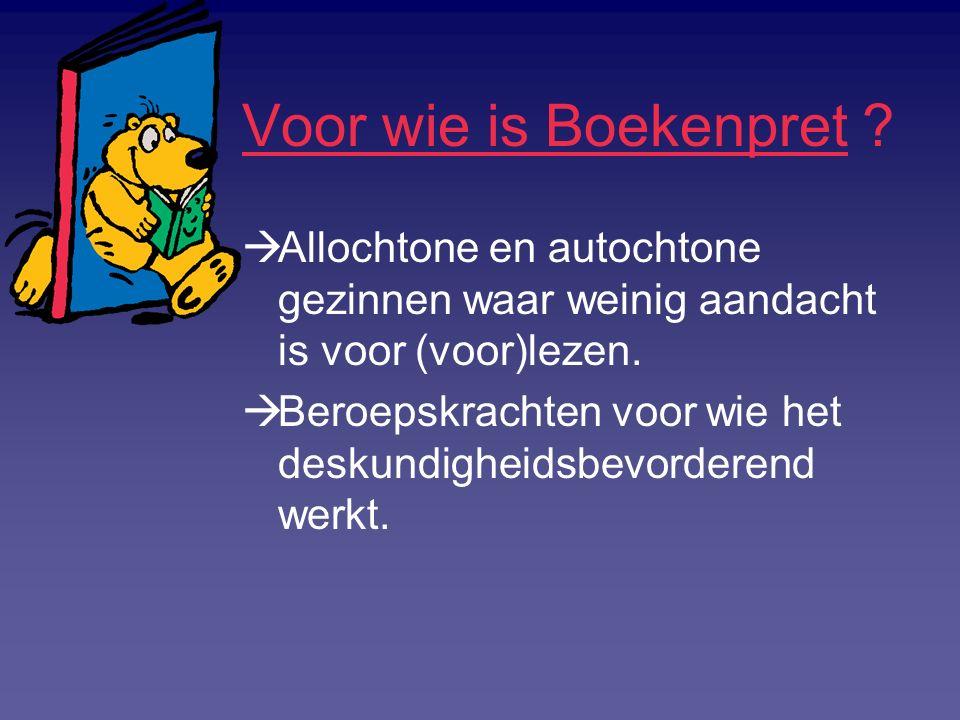 Hoe werkt Boekenpret .Boekenpret is maatwerk:  Per locatie keuze uit activiteiten en materialen.
