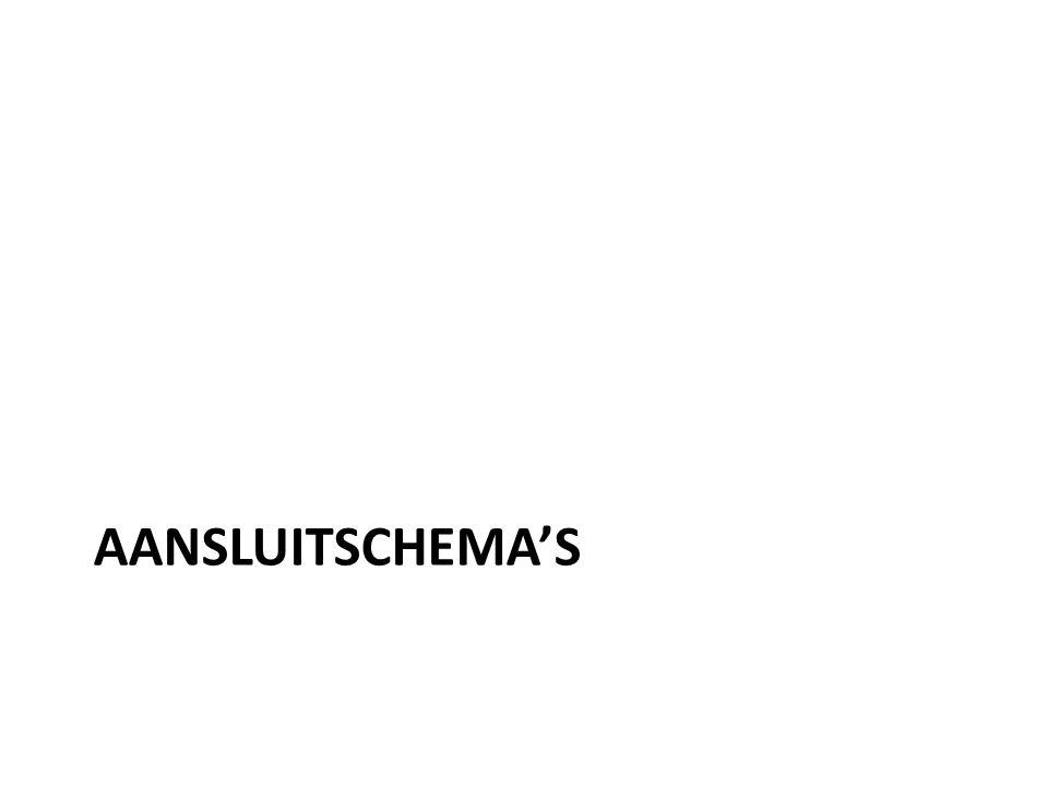 AANSLUITSCHEMA'S