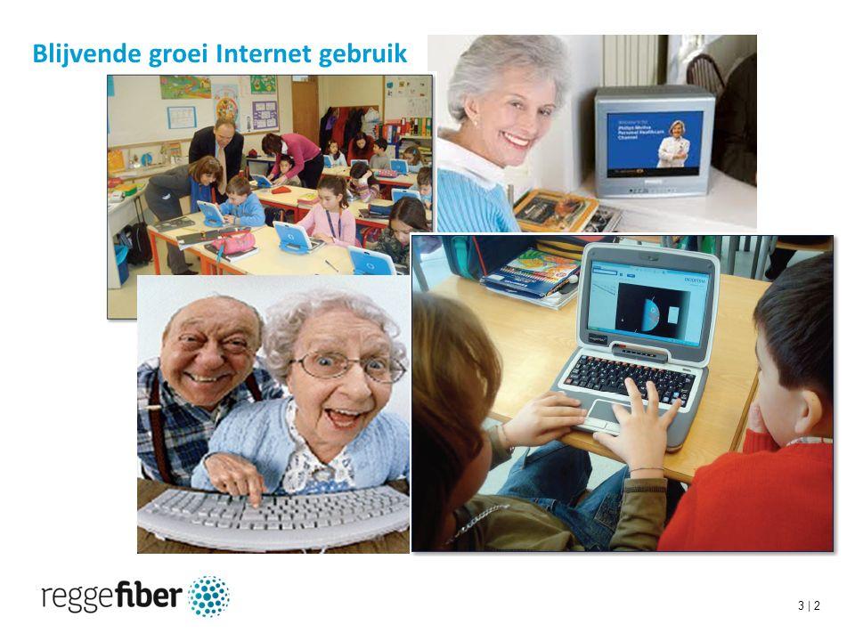 3 | 2 Blijvende groei Internet gebruik
