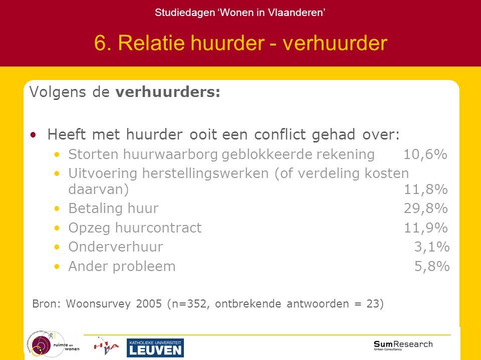 Studiedagen 'Wonen in Vlaanderen' 6.