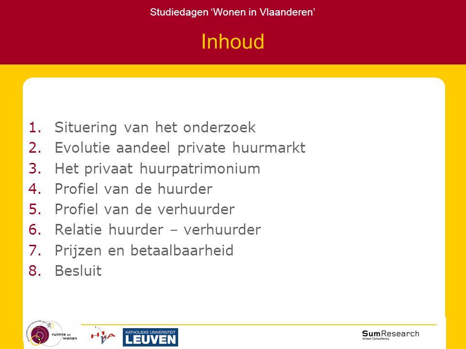 Studiedagen 'Wonen in Vlaanderen' 1.