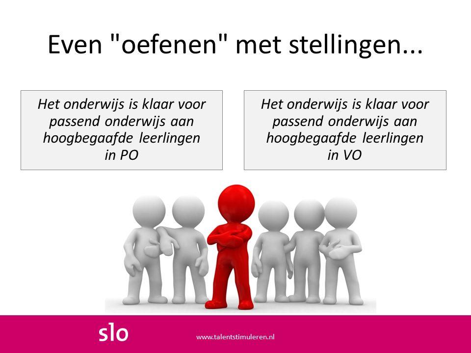 www.talentstimuleren.nl  Heb jij je al geregistreerd als professional, werkzaam bij een school en/of instantie?