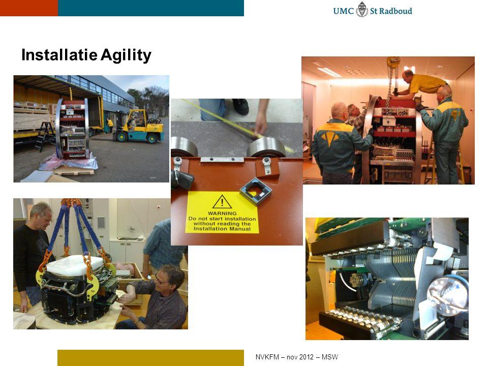 Installatie Agility NVKFM – nov 2012 – MSW