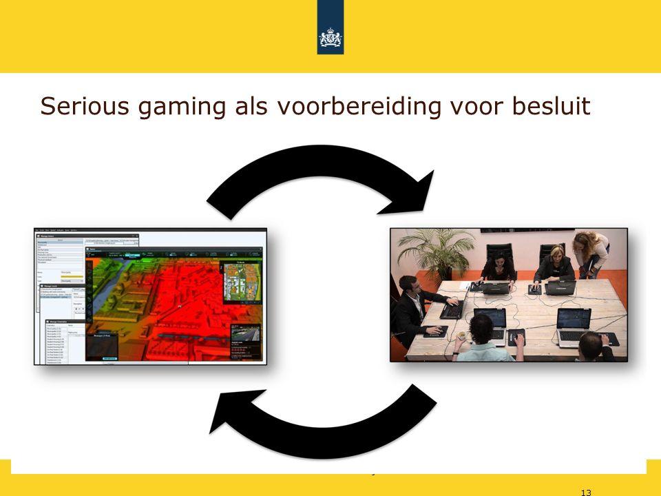 Rijkswaterstaat Serious gaming als voorbereiding voor besluit 13