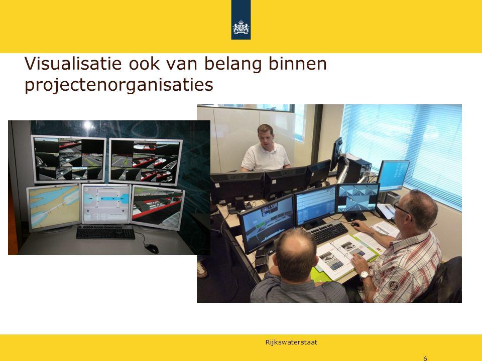 Rijkswaterstaat 6 Visualisatie ook van belang binnen projectenorganisaties